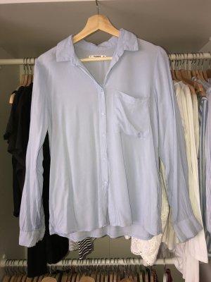 Pull & Bear Blusa-camisa azul celeste