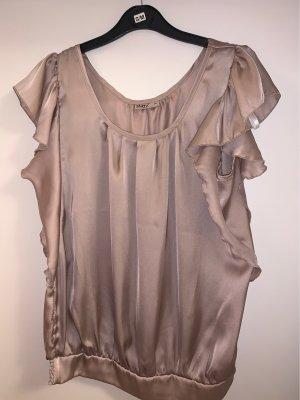 okay Glanzende blouse stoffig roze