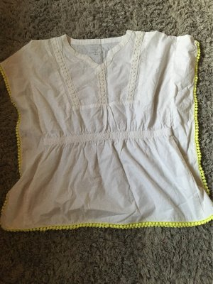 Aldi Tunique-blouse jaune fluo-blanc