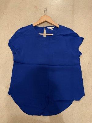 H&M Blusa tipo body azul oscuro-lila grisáceo