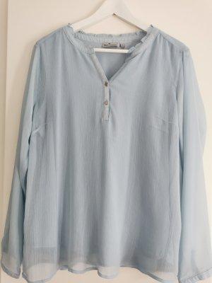 Blue Motion Zijden blouse azuur