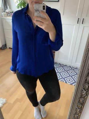 H&M Glanzende blouse blauw