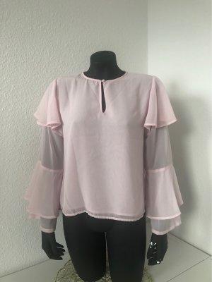 Andrea Hedenstedt x NA-KD Transparante blouse roze