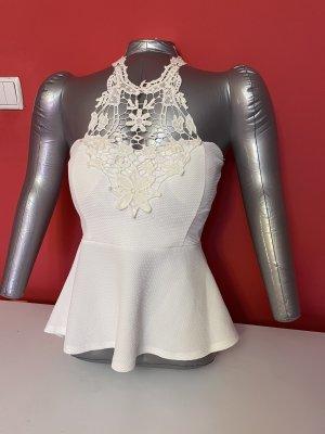 Empiècement de blouses blanc