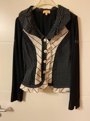 BIBA pariscop Bluzka z długim rękawem beżowy-czarny