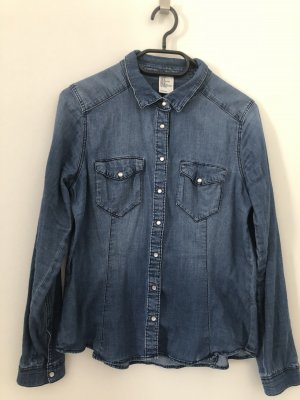 H&M Jeans blouse donkerblauw