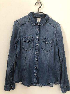 H&M Denim Blouse dark blue