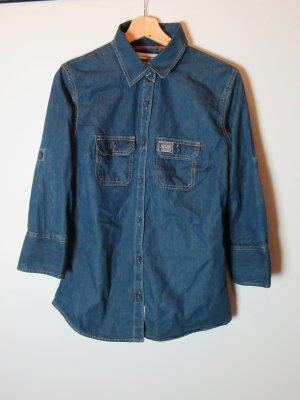 Bluse Damen blau Jeans Superdry Gr. L