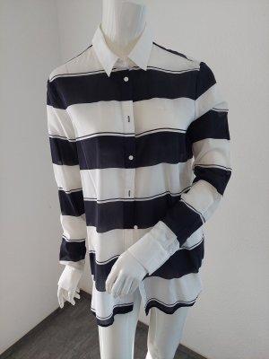 Lacoste Long Sleeve Blouse white-dark blue