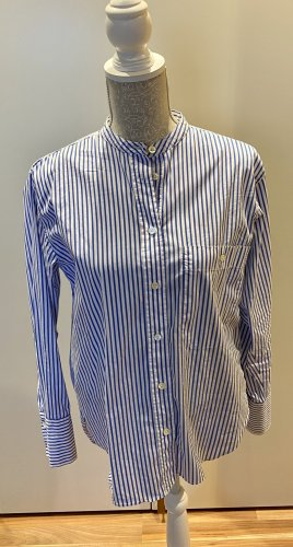 Bluse Damen weiß blau gestreift Closed Longbluse M 38