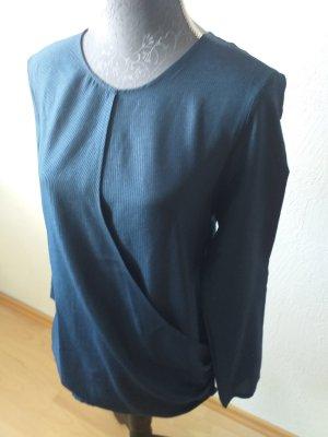 Mango Basics Glanzende blouse blauw-donkerblauw