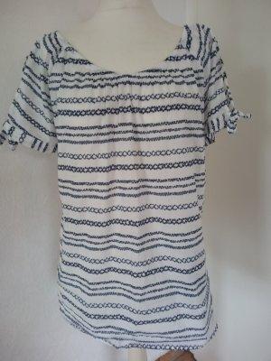 C&A Yessica Bluzka z krótkim rękawem biały-niebieski