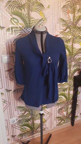 Bluse Diane von Furstenberg Schluppe Seide Blau 36