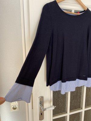Bluse dunkelblau/gestreift
