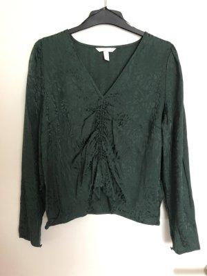 Bluse dunkelgrün hm
