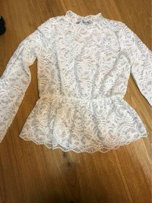 Bik Bok Ruche blouse wit
