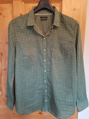 Marco Polo Shirt Blouse forest green cotton