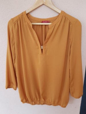 Sa.Hara Slip-over Blouse gold orange polyester