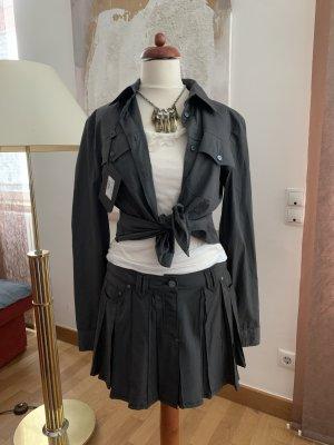 Maria Intscher Bodysuit Blouse anthracite cotton
