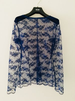 Andres Sarda Long Sleeve Blouse neon blue-steel blue