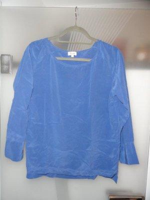 her Shirt Zijden blouse korenblauw Zijde