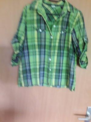 Blusa a cuadros verde