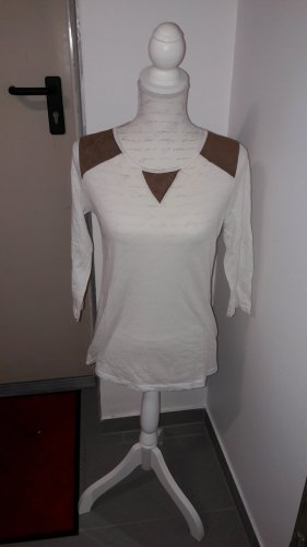 Batik Shirt white-bronze-colored