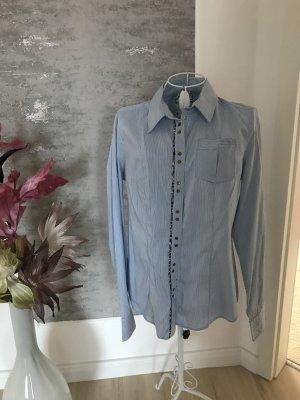Orwell Shirt Blouse white-steel blue