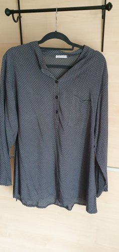 Made in Italy Oversized blouse donkergrijs-staalblauw