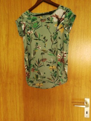 Be only Blouse Top lime yellow-green grey