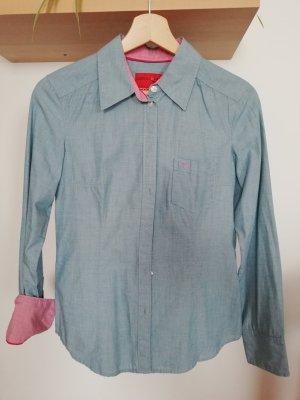 Esprit Blouse en jean rose-bleu azur