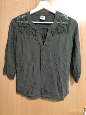 Vero Moda Blusa caída gris verdoso
