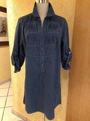 Caro Lange blouse staalblauw