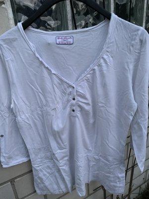 Blusa con lazo blanco