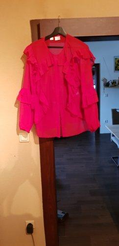 BODY FLIRT Ruche blouse rood
