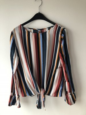 Blusa de manga larga multicolor