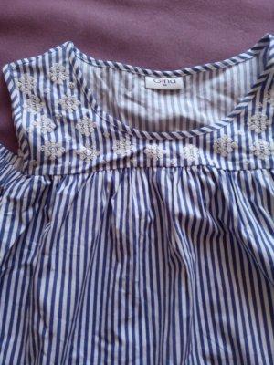Gina Short Sleeved Blouse white-blue