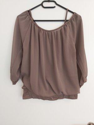 Madonna Transparentna bluzka brązowy-khaki
