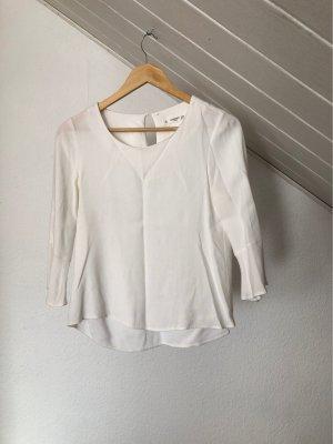Mango Linen Blouse natural white