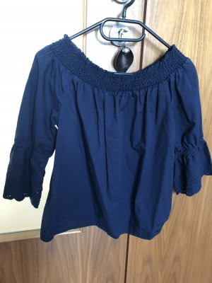 Tom Tailor Denim Ruffled Blouse dark blue