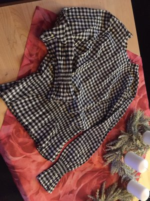 H&M Conscious Collection Checked Blouse white-black