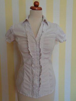 Orsay Bluzka z falbankami biały Bawełna