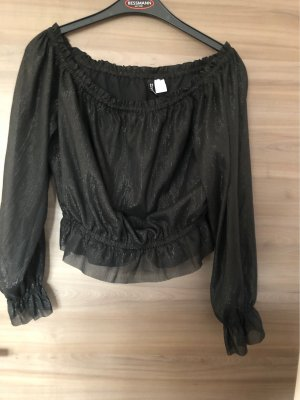 H&M Divided Blusa brillante negro