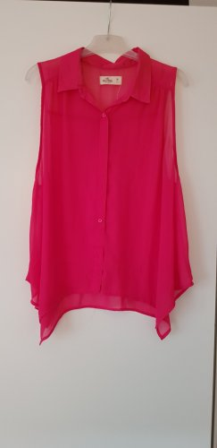 Hollister Mouwloze blouse neonrood