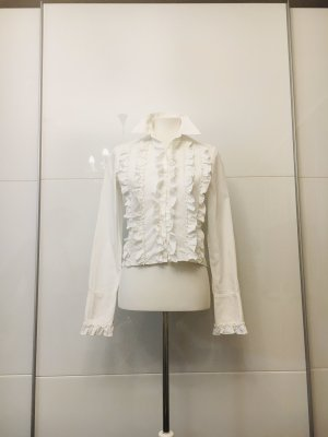 GF Ferré Ruffled Blouse white
