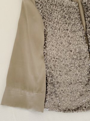 van Laack Silk Blouse silver-colored mixture fibre