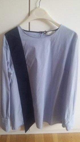 Semperlei Bluzka oversize błękitny-biały Bawełna