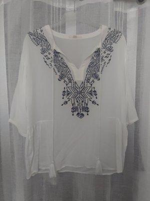 Gaudi Jeans Camicia a tunica bianco-blu scuro