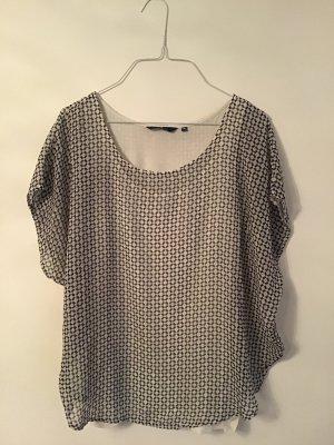 Bluse gemustert in schwarz-weiß