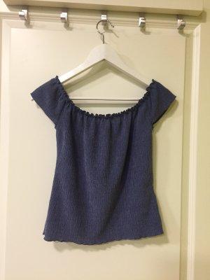 Geribd shirt blauw